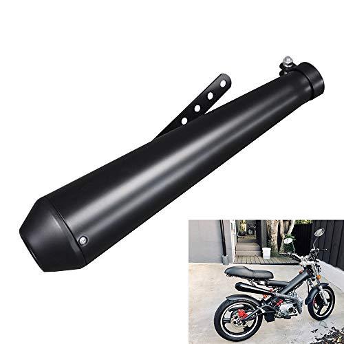 KKmoon Auspuff Endschalldämpfer 38-45mm Edelstahl Aluminium Universal Auspuff Schalldämpfer für Motorrad Schwarz