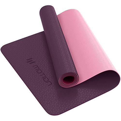 Yoga Mat Classic Pro Yoga Mat TPE Eco Friendly Non Slip Fitness Exercise Mat. Workout Mat for Yoga, Pilates and Gymnastics 183 x 61 x 0.6CM (Purple)