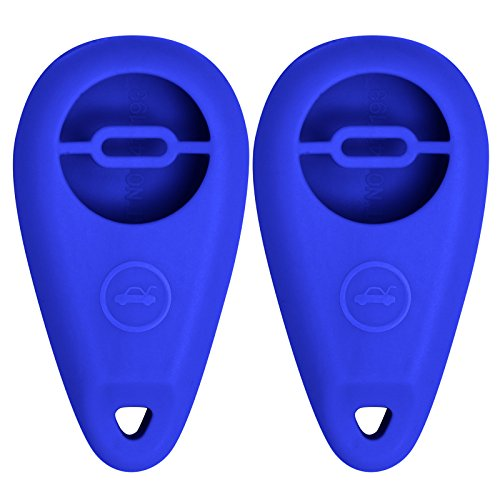 Keyless2Go New Silicone Cover Protective Case for Remote Key Fobs with FCC CWTWB1U819 - Blue - (2 Pack)