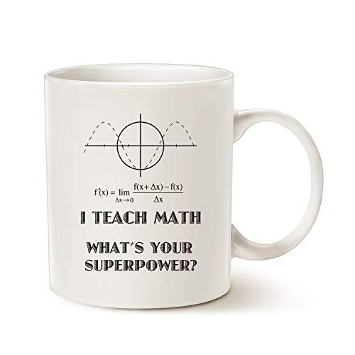 MAUAG Funny Teacher Coffee Mug, I Teach Math What's Your...