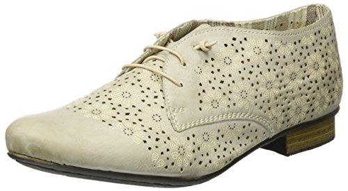 Rieker 51946, Zapatos con cordones para Mujer, Blanco (ice / 80), 42 EU (8 UK)