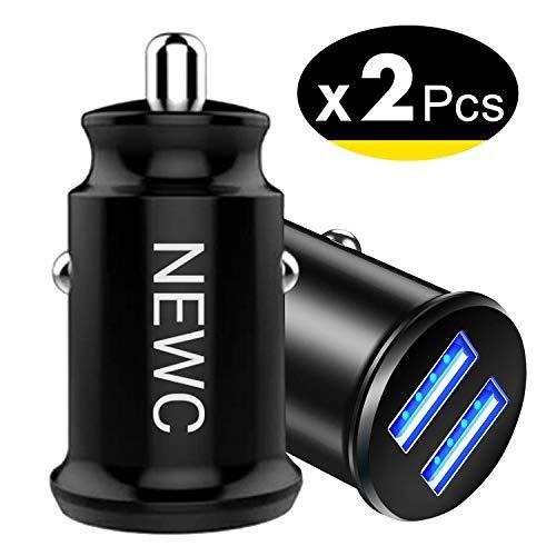 NEW'C Lot de 2 Mini Chargeur Voiture Allume Cigare USB 2 Ports,Technologie...