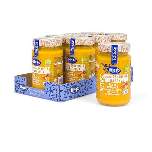 Hero - Crema Ecológica de Zanahoria y Naranja - Pack de 8 x 345 g