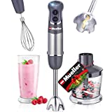 Mueller Austria Hand Blender, Smart Stick 800W, 12 Speed and Turbo Mode, 3-in-1, Titanium Steel...
