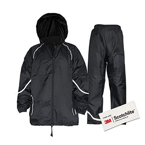 Salzmann 3M Imperméable Combinaison de Pluie Réfléchissante   Pantalon...