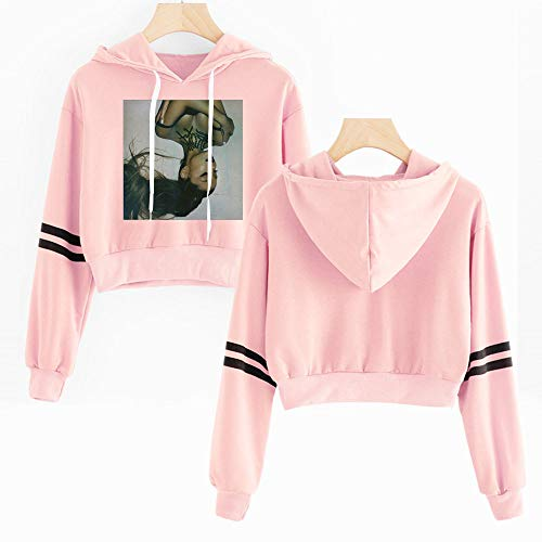 nuannuan 2D Print Ariana Grande Sweatshirt Girls Sportswear Sweet Top Pullover Hoodie Sweet Singer Girls Long Lady Casual Loose XXS-4XL