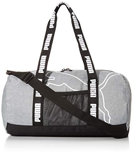 PUMA Barrel Duffel Bag, Grey/Black, OS