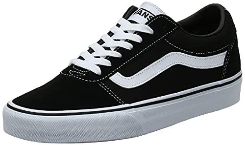 Vans Men's Low-Top Sneakers, Black Suede Canvas Black White C24, 10 UK