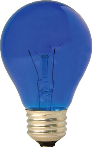 GE Lighting Party Light 49724 25-Watt Blue A19 Light Bulb with Medium Base, 1-Pack