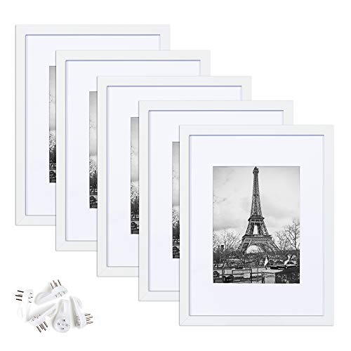 upsimples 9x12 Picture Frame Set of 5,Display Pictures 6x8 with...