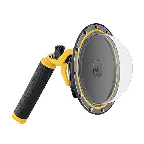 TELESIN Custodia impermeabile Dome Port per GoPro Hero 7/6/5 Black, con custodia per obiettivo a bolle d'aria, accessori GoPro con Pistola e Presa Subacquea Fotografia Subacquea