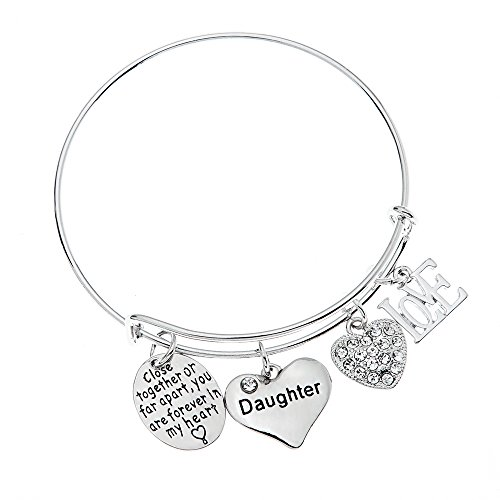 Daughter Bracelet- Daughter Jewelry- Never Far Apart for...