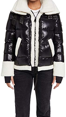 41AW0sgrrGL Shell: 100% nylon Fabric: Heavyweight, non-stretch quilted technical weave Dyed lamb shearling, from Italy