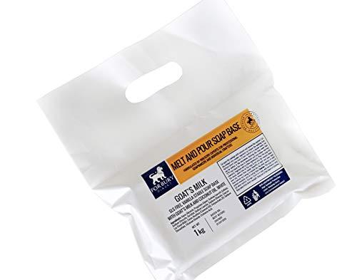 Forbury 1kg Base per Sapone di glicerina al Latte di Capra, Bianco Scioglie E Versa Senza SLS