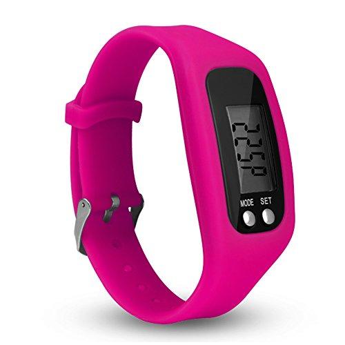 HMOCNV - Smart Watch con schermo LCD, contapassi, fitness tracker, orologio semplice da usare, per...