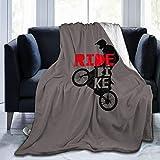 ELIENONO FlannelFleeceBedBlanketsLightweightCozyThrowBlanketforCouchSofaBedroomAdultsKids,Cool BMX Design Ride Bike Bicycle for Men & Boys - BMX Gift - Bike Gift,60'X 50'