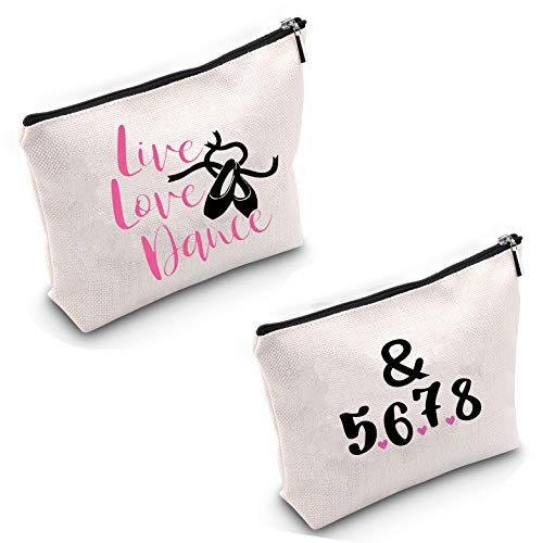 TSOTMO Live Love Dance Makeup Bag &5678 Gift Dancer Cosmetic...