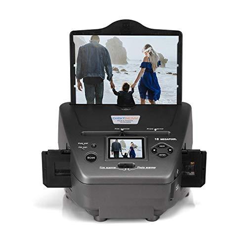 16MP All-In-1-Film Diascanner und 2.4 Zoll LCD Display, Multiscanner für Fotos, Dias, Negativ, und Namenskarten, 35 mm Dia-Film-Foto-Scanner Konvertiert Dias zu Digital und Speichert Es auf SD-Karte