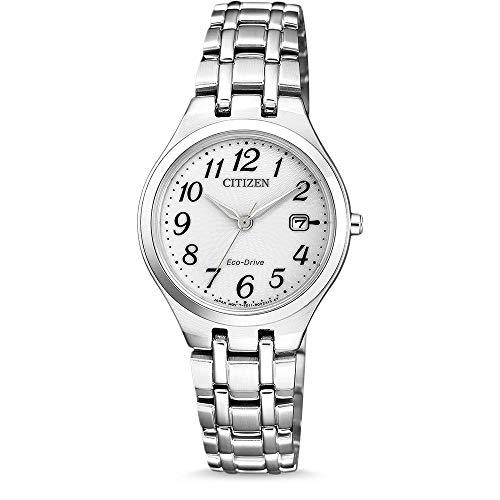 CITIZEN Damen Analog Solar Uhr mit Edelstahl Armband EW2480-83A