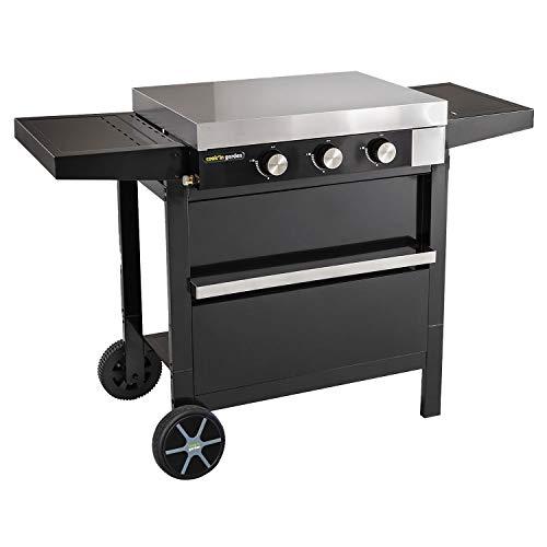 Cook'in Garden - Plancha gaz en Fonte FINESTA sur Chariot - 3 brûleurs