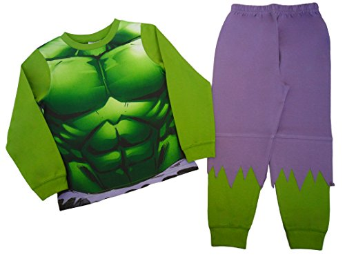Pigiama da bambino con motivo 'L'incredibile Hulk' Green 5-6 Anni