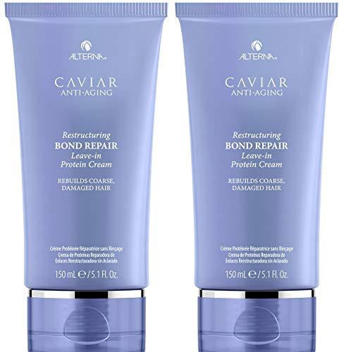 CAVIAR Anti-Aging Restructuring Bond Repair Leave-in Protein Cream, 5.09-Ounce (2-Pack)