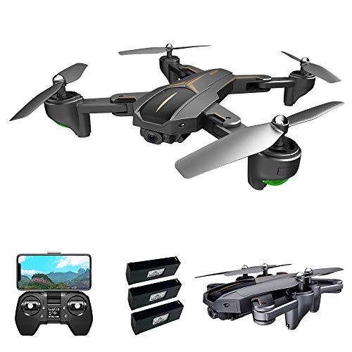 Goolsky VISUO XS812 Drone con Fotocamera 4K Drone GPS 2.4G WiFi FPV Drone Pieghevole modalit Senza Testa GPS Segui Il Gesto di ripresa Un Drone di Ritorno Chiave per Adulti