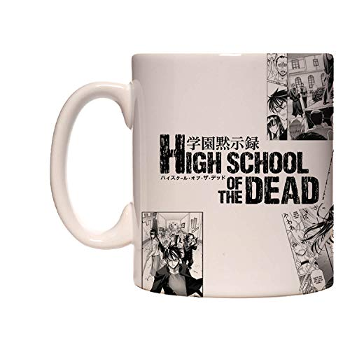 Caneca exclusiva - highschool of the dead - mangá
