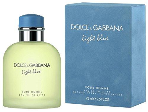 D & G Light Blue By Dolce & Gabbana For Men, Eau De Toilette Spray, 2.5 Fl Oz