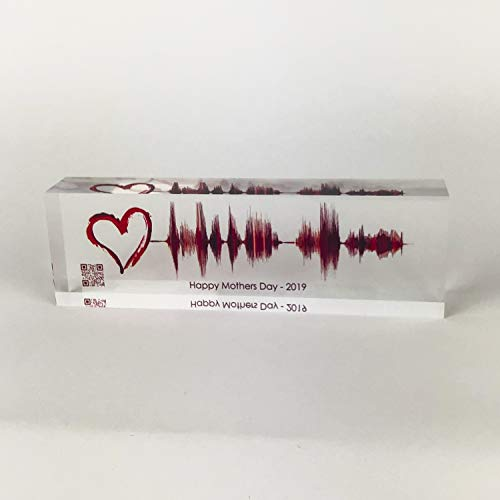 Artblox Soundwave Art Custom Gifts   Any Recording Or Song On Acrylic Block   Unique Birthday Gift