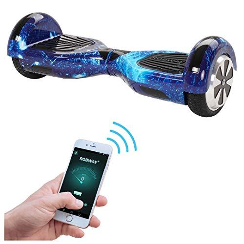 Robway W1 Hoverboard - Das Original - Samsung Marken Akku - Self Balance - 22 Farben - Bluetooth - 2 x 350 Watt Motoren - App - Led (Space Blau)
