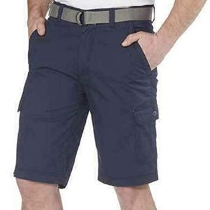 Wear First Stretch Belted Cargo Shorts – Blue Nights – Navy