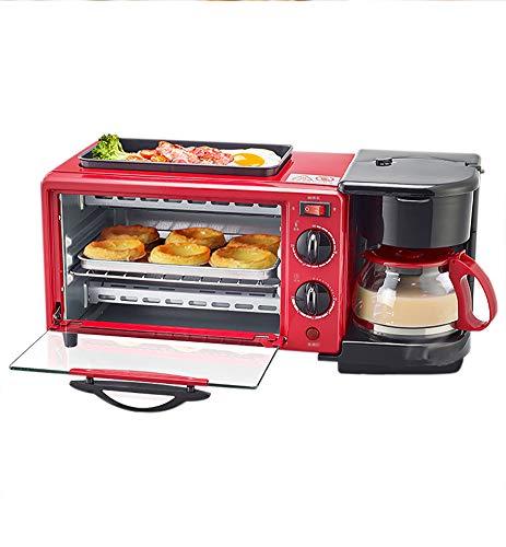 Toaster,Edelstahl Toaster,Frühstücksmaschine, Kreativer Toast Und Eiertoaster Und Eierkocher,Kaffee-Omelette Frühstück Volllautomatisch, Mit Staubschutz - Verrotten