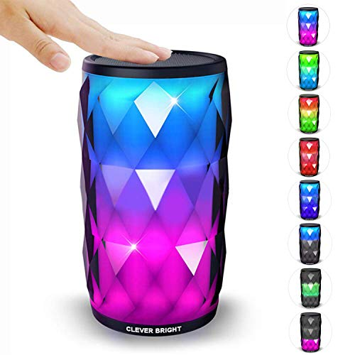 Portable Bluetooth Speakers with 6 LED Light Modes Wireless Speaker Loud Sound Wireless Bluetooth Speaker, Party, Home, Outdoor