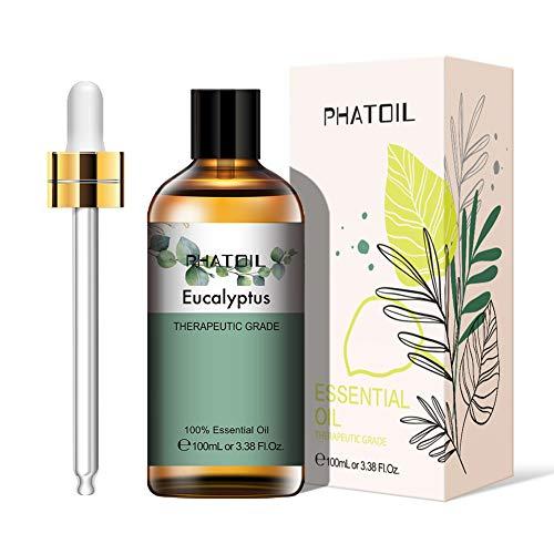 PHATOIL Aceites Esenciale de Eucalipto 100 ml, 100% Naturale