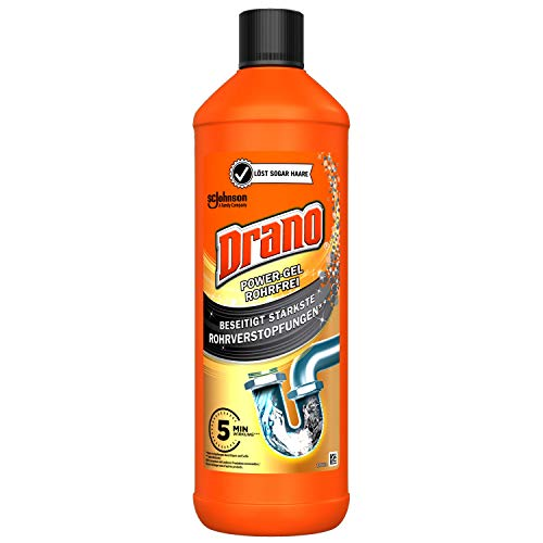 Mr Muscle Drano Power Gel Rohrfrei Abflussreiniger, 1er Pack (1 x 1000 ml)
