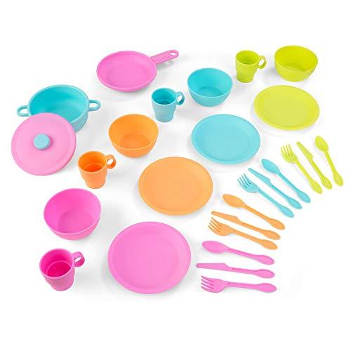 Kidkraft 63319 Set Giocattolo da Cucina da 27 Pezzi per Bambini, Giochi di Imitazione con Accessori Inclusi, Multicolore
