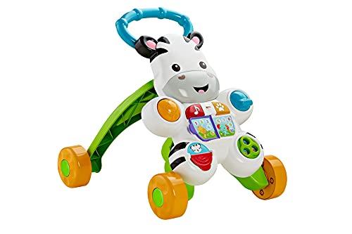 Fisher-Price Zebra Primi Passi Spingibile, Giocattolo Elettronico Educativo con Musica e Suoni, per Camminare, per Bambini di 6 + Mesi, HBB66, Imballaggio Sostenibile