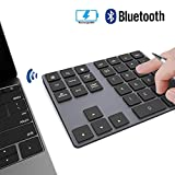 Wireless Numeric Keypad, JOYEKY Aluminum Bluetooth Number Pad 34-Keys External Number Keyboard Shortcut Keypad Data Entry Compatible iMac, MacBook Air, MacBook Pro, MacBook, and Mac Mini etc