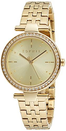 Esprit ES1L153M1035 Ruby Uhr Damenuhr Edelstahl vergoldet 5 bar Analog Gold