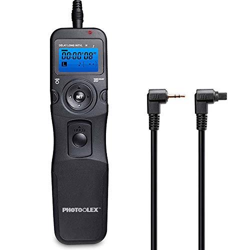 PHOTOOLEX T710C Telecomando Intervallometro Scatto Remoto LCD Timer per Canon EOS 1300D / 1200D / 1100D / 1000D / 750D / 700D / 650D / 600D / 550D / 500D / 450D / 100D / 5D Mark II / 7D / 70D etc.