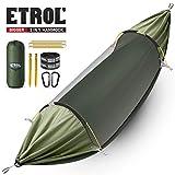 Hamac ETROL, mise à niveau hamac de camping avec moustiquaire, 3 dans 1 conception de blackout Aluminium...