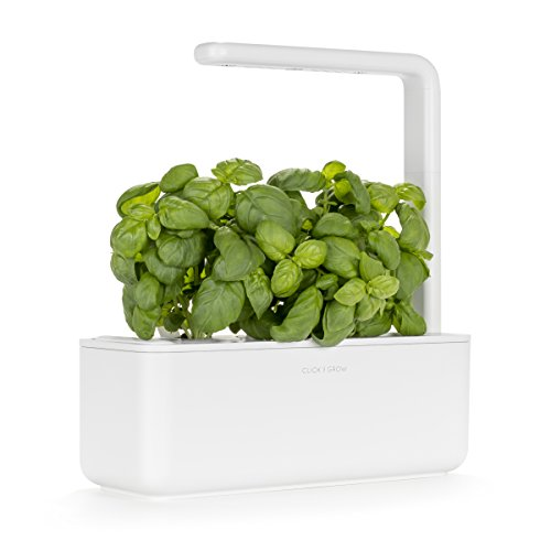 Click & Grow Smart Garden 3 Indoor Herb Garden (Includes Basil Plant Pods), White