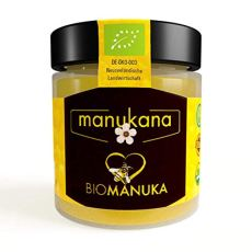 Manukana Bio Raw Manuka Honig | Ethische Imkerei | Echte Gläser (MGO 263+ | 250g)