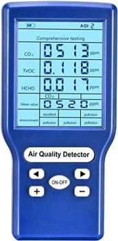 Moniteur De Qualité De L'air, Vogvigo Détecteur De Qualité De L'air, Testeur Précis Pour CO2 Formaldéhyde (hcho) TVOC, Mini Analyseur De Gaz De Détecteur De Dioxyde De Carbone
