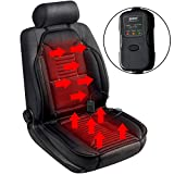 Sojoy Universal 12V Heated Smart Multifunctional Car Seat Heater Heated Cushion Warmer High/Medium/Low Temp Switch, 45 Minute Timer (Black)