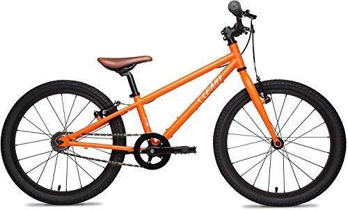 Cleary Bikes Owl 20 inch Kids Bike, Lightweight Single Speed Children's Bike for Pavement or Trails, Very Orange