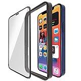 Quorl(クオール) iPhone ガラスフィルム 全面保護 高アルミニウムガラス 9H ガイド枠付き… (iPhone11 XR)