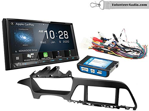 Kenwood DMX9707S Double Din Radio Install Kit With Apple CarPlay, USB/AUX, Built-In 13 Band Equalizer Fits 2015 Hyundai Sonata