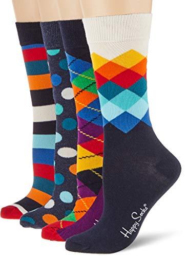 Happy Socks Mix Gift Box Calzini, Multicolore, 36-40 (Pacco da 4) Uomo